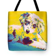 Aussie Puppy-yellow Tote Bag by Jane Schnetlage