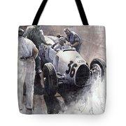 Auto Union B Type 1935 Italian Gp Monza B Rosermeyer Tote Bag by Yuriy  Shevchuk