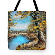 Autumn Gold Tote Bag by Karon Melillo DeVega