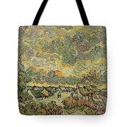 Autumn Landscape Tote Bag by Vincent Van Gogh