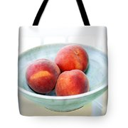 Autumn Peaches Tote Bag by Marilyn Hunt