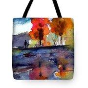 Autumn Walk Tote Bag by Anne Duke