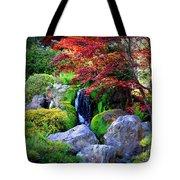 Autumn Waterfall Tote Bag by Carol Groenen