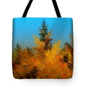 Autumnal Forest Tote Bag by David Lane