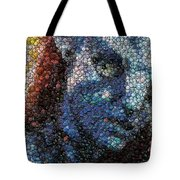 Avatar Neytiri Bottle Cap Mosaic Tote Bag by Paul Van Scott