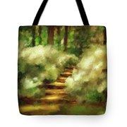 Azalea Stairs Tote Bag by Lois Bryan