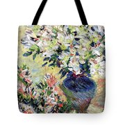 Azaleas Tote Bag by Claude Monet