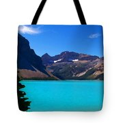 Azure Blue Mountain Lake Tote Bag by Greg Hammond