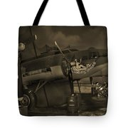B - 17 Field Maintenance  Tote Bag by Mike McGlothlen