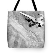 B-25 Bomber Over Germany Tote Bag by War Is Hell Store
