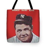 Babe Ruth Tote Bag by Paul Van Scott
