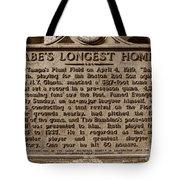 Babes Longest Homer Tote Bag by David Lee Thompson