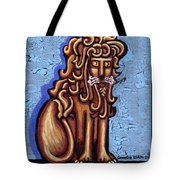Baby Blue Byzantine Lion Tote Bag by Genevieve Esson