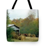 Back At The Barn Tote Bag by Jan Amiss Photography