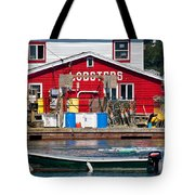 Bailey Island Lobster Pound Tote Bag by Susan Cole Kelly