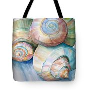 Balance in Spirals Watercolor Painting Tote Bag by Michelle Wiarda