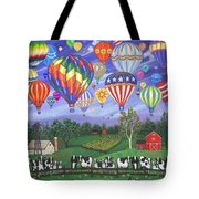 Balloon Race Two Tote Bag by Linda Mears