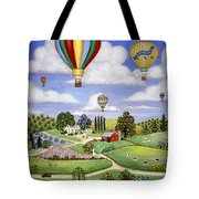 Ballooning In The Country One Tote Bag by Linda Mears