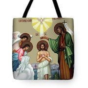 Baptism Tote Bag by Munir Alawi