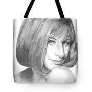 Barbra Streisand Tote Bag by Rob De Vries