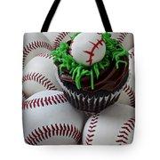Baseball Cupcake Tote Bag by Garry Gay