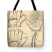 Baseball Glove Patent 1910 Tote Bag by Digital Reproductions