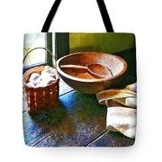 Basket Of Eggs Tote Bag by Susan Savad