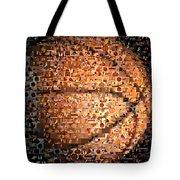 Basketball Mosaic Tote Bag by Paul Van Scott