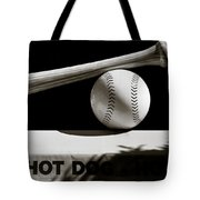 Bat And Ball Tote Bag by Dave Bowman