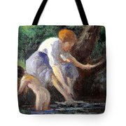 Bathing Tote Bag by Maximilien Luce