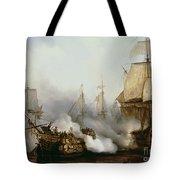 Battle Of Trafalgar Tote Bag by Louis Philippe Crepin