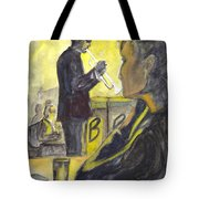 Bb Jazz Tote Bag by Carol Wisniewski