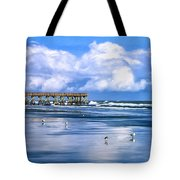 Beach at Isle of Palms Tote Bag by Dominic Piperata