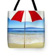 Beach Umbrella Tote Bag by Carl Shaneff - Printscapes