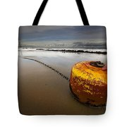 beached mooring buoy Tote Bag by Meirion Matthias