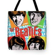 Beatles Pop Art Tote Bag by Jim Zahniser