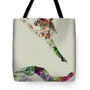 Beautiful Ballet Tote Bag by Naxart Studio