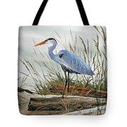 Beautiful Heron Shore Tote Bag by James Williamson