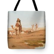 Bedouin In The Desert Tote Bag by Frederick Goodall