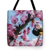 Bee To The Blossom Tote Bag by Jeff Kolker