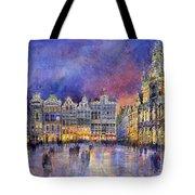 Belgium Brussel Grand Place Grote Markt Tote Bag by Yuriy  Shevchuk