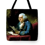 Ben Franklin Tote Bag by War Is Hell Store