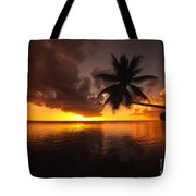 Bending Palm Tote Bag by Ron Dahlquist - Printscapes