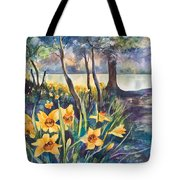 Beside The Lake Beneath The Trees. Tote Bag by Kate Bedell