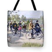 Bicycle Tourists, 1896 Tote Bag by Granger
