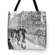 BICYCLIST MEETING, 1881 Tote Bag by Granger