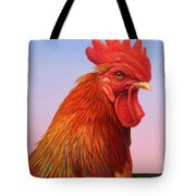 Big Red Rooster Tote Bag by James W Johnson