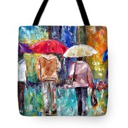 Big Red Umbrella Tote Bag by Debra Hurd