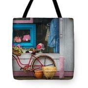 Bike - Lulu's Bike Tote Bag by Mike Savad