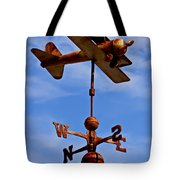 Biplane Weather Vane Tote Bag by Garry Gay